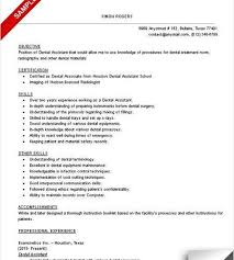 Dental Assistant Resume Templates Dental Assistant Resume Sample Tips Resume Genius