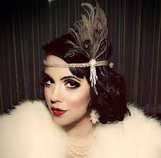 how to do great gatsby hairstyles for women great gatsby headpiece chagne feather fascinator 1920s