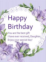 birthday card for daughter best 25 birthday wishes daughter ideas