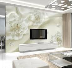 online get cheap white wall murals aliexpress com alibaba group 3d wallpaper photo wall mural white flower wall paper rolls home decorative larger size landscape wallcovering