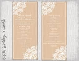 Rustic Wedding Program Template Printable Wedding Program Template Rustic Wedding Program
