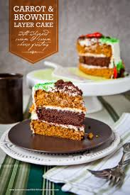 carrot and brownie layer cake carrot and brownie cake eat the love
