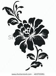 Rose Flower Design Flower Motif Design Stock Vector 466072229 Shutterstock