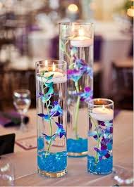 blue centerpieces 37 floating flowers and candles centerpieces shelterness
