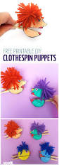 clothespin paper puppets free printable moms and crafters