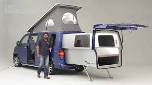 new volkswagen bus practical motorhome doubleback vw camper review youtube