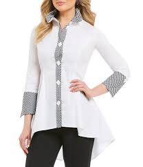 black blouse with white collar s casual dressy blouses dillards