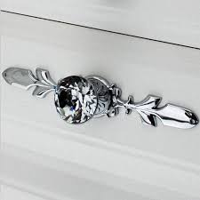 cabinet handles with backplate fashion duluxe cabinet handle crystal drawer knob silver