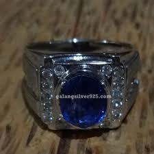 model cincin blue safir cincin batu blue safir galang silver 925