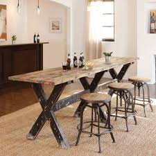 bar height table industrial incredible liberty dining and bar height table u vintage industrial
