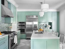 stone countertops light blue kitchen cabinets lighting flooring