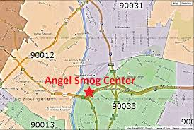 map of downtown los angeles smog center certified smog station starsmogcenter