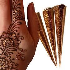 gold glitter gel cones henna tattoo body art henna gilding