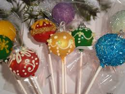 tree ornament cake pops my sweet favorites