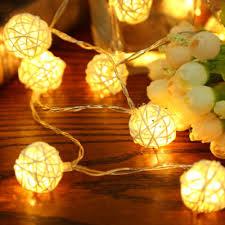rattan ball fairy lights led light 2m warm white rattan ball string fairy lights string for