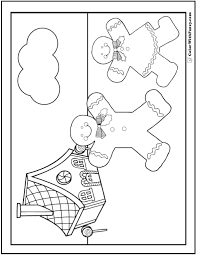 gingerbreadman coloring page christmas coloring pictures