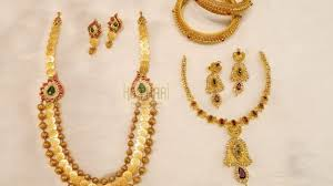 gold short chain necklace images Latest gold short light weight necklace designs jpg