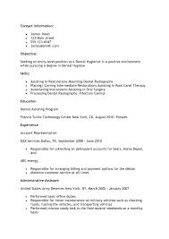 Rda Resume Examples by Dental Resume Example Best Free Resume Collection