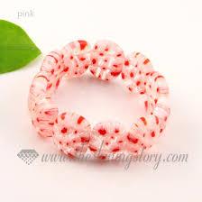 pink glass bead bracelet images Stretch millefiori lampwork murano glass beads bracelets jewelry jpg