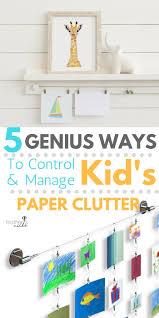 kids art display 5 genius ways to manage paper clutter