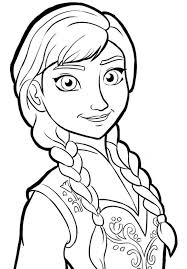 coloring page anna frozen cartoon coloring pages of