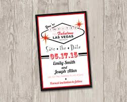 wedding invitations las vegas las vegas save the date printable las by thepapervioletshoppe