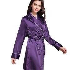 robe de chambre été printemps à manches longues élégant satin peignoirs robes de chambre