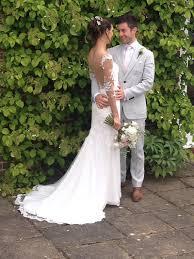 bespoke wedding dresses 2 ivory bespoke wedding dress with scalloped edge