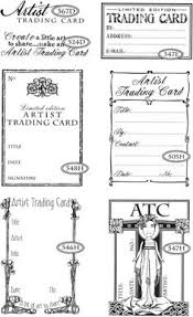 templete for playing cards artist trading cards craft ideas for