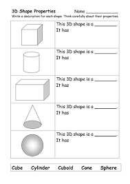 collection of solutions 3 d shapes worksheets about sample