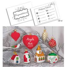 newlywed u0027s european ornament collection with personalized heart