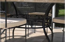 170cm round outdoor garden marble mosaic dining table luxor