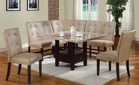 cream dining room chairs britney casual cream walnut pu wood 6pc dining room set the