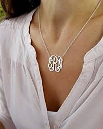 sterling silver personalized necklace images Monogram necklace sterling silver personalized name jpg