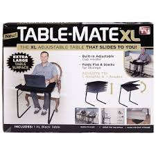 tv table as seen on tv as seen on tv tablemate black xl the warehouse