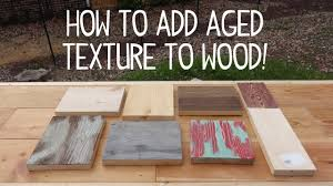 How To Make A Wooden End Table by How To Make Wood Look Old U0026 Weathered Texture Trick Youtube