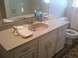 Bathroom Vanity Counters Painting An Ugly Bathroom Vanity Counter Hometalk