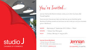 Invitation Card For Get Together Wre Ba5 Jennian Homes Northland Chamber Of Commerce