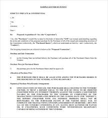 Letter Of Intent To Purchase Business Template Free 12 purchase letter of intent templates free sle exle