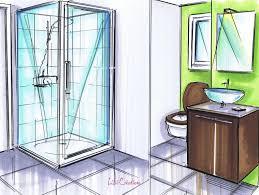dessiner salle de bain petite salle de bains marron le blog de elise fossoux