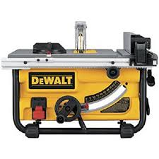 dewalt table saw review dewalt dwe7480 10 inch compact job site table saw with site pro