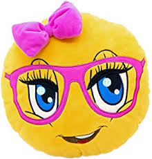 amazon com evz 32cm emoji smiley emoticon yellow round cushion