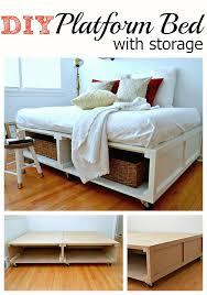 Diy Platform Bed Diy Platform Bed Frame With Storage