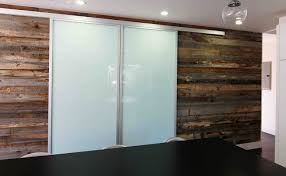 Sliding Barn Door Room Divider by Double Wall Slide Doors