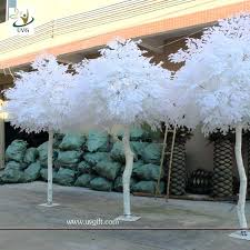white artificial tree with wood 10 ft ireland banyan