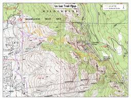 Albuquerque Map La Luz Trail Topo Map Maplets