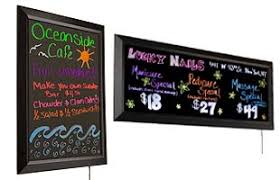 lighted message board signs write on menu boards led light up signage for restaurants