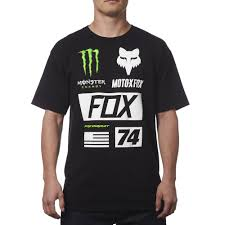 monster energy motocross helmet fox racing monster energy union tee black available at motocross giant