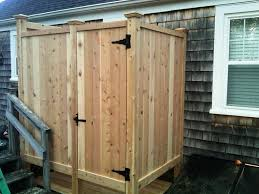 How To Build An Outdoor Shower Enclosure - outdoor shower designs enclosures u2014 jen u0026 joes design best
