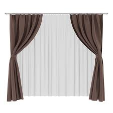White And Brown Curtains Brown And White Curtains 3d Model From Cgaxis